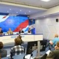 Participation of Al.A. Gromyko in Russia-Britain relations press conference