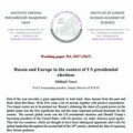 Working paper №1, 2017 «Russia and Europe in the context of US presidential elections»